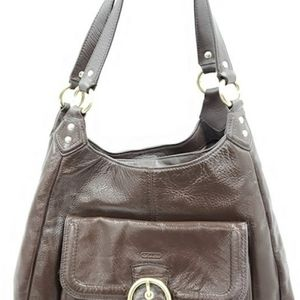 COACH CAMPBELL LEATHER TRI SATCHEL HOBO